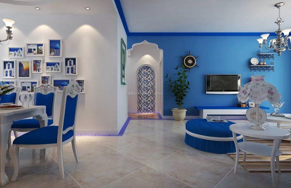 整套地中海风格客厅地砖装修效果图片图片