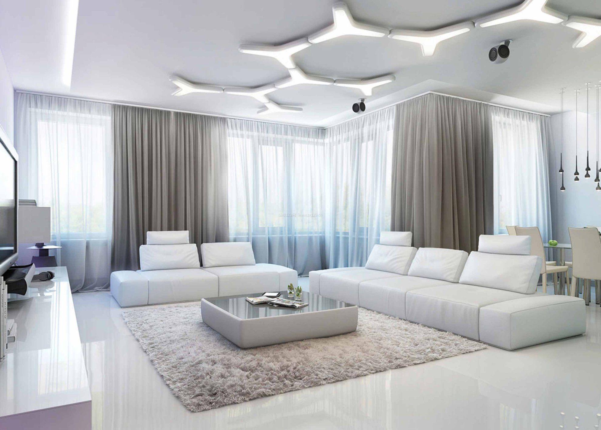 简约风格房屋客厅吊顶效果图大全_装修123效果图