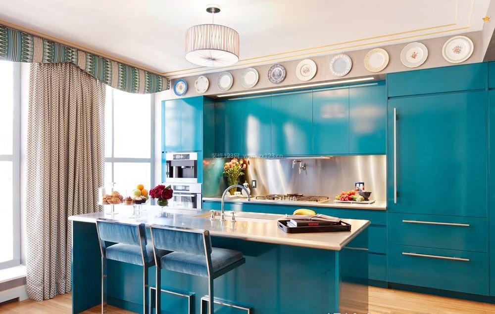 北欧风格开放式厨房吧台设计装修效果图