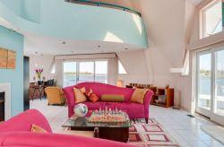 復式大客廳沙發背景墻裝修樣板房