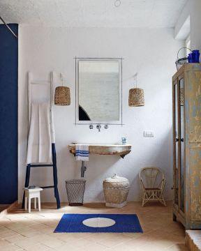 整套地中海风格 洗手间装修效果图片