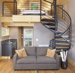 卧室客厅顶楼带阁楼楼梯隔断-每日推荐