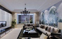 家庭客廳飄窗裝修方案圖片