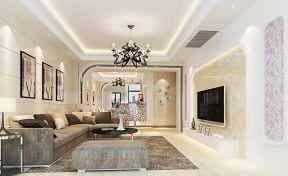 现代风格吊顶 现代欧式客厅