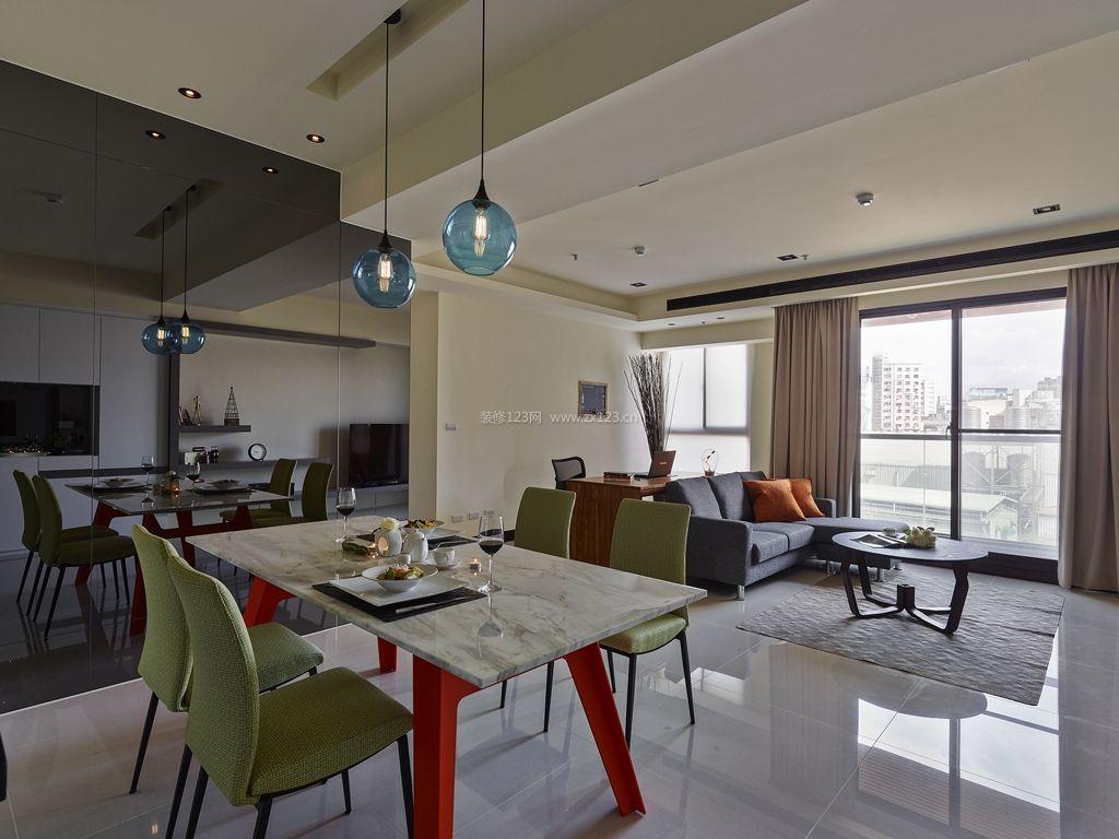 室内设计现代简约风格客餐厅装修效果图片