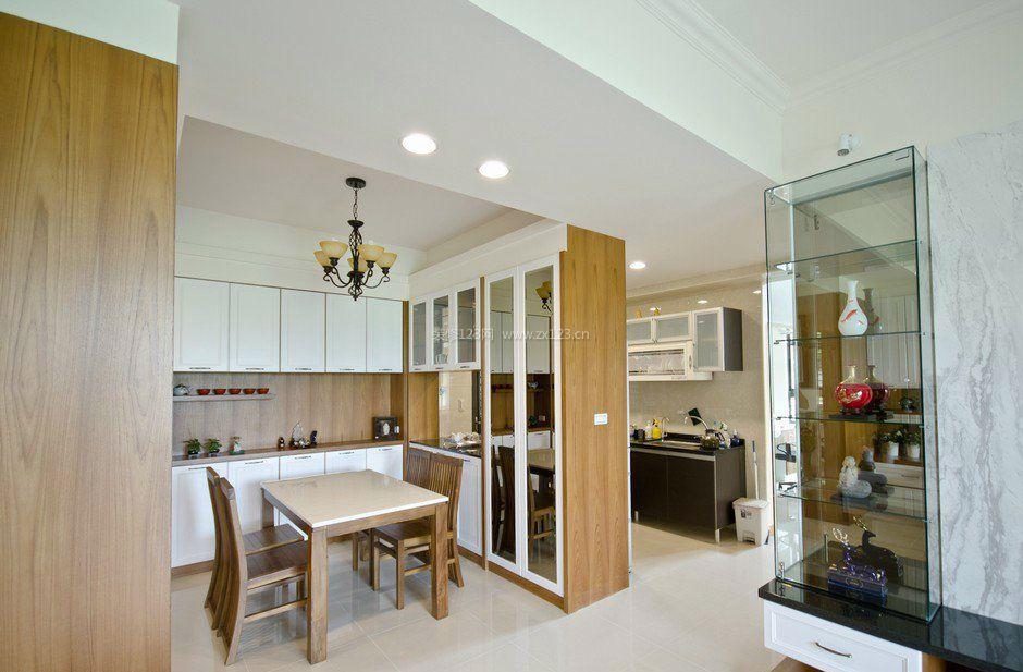 厨房餐厅隔断柜子效果图片