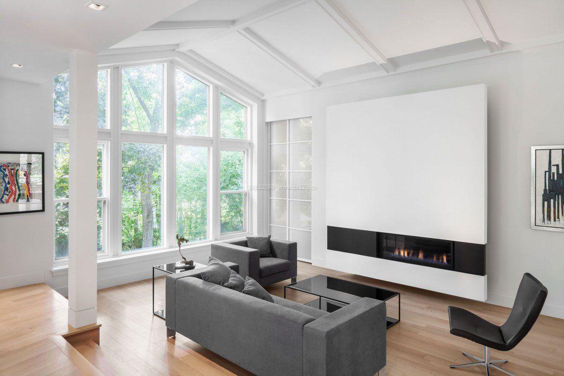黑白现代简约客厅室内设计图片