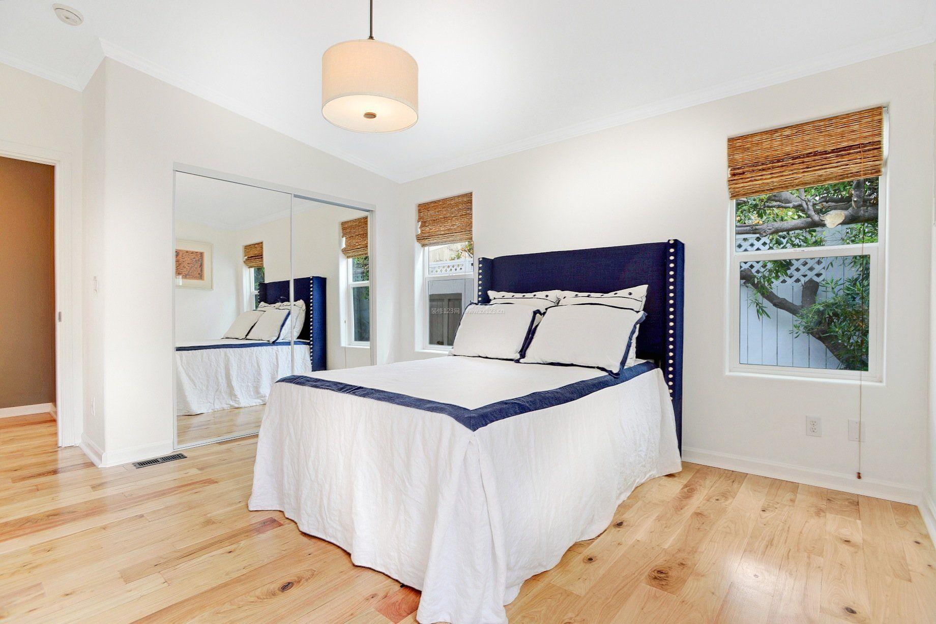 家装效果图 卧室 卧室家居设计浅黄色木地板装修效果图片 提供者
