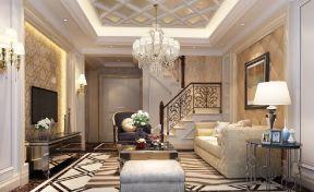歐式簡約風格客廳 復式樓歐式裝修