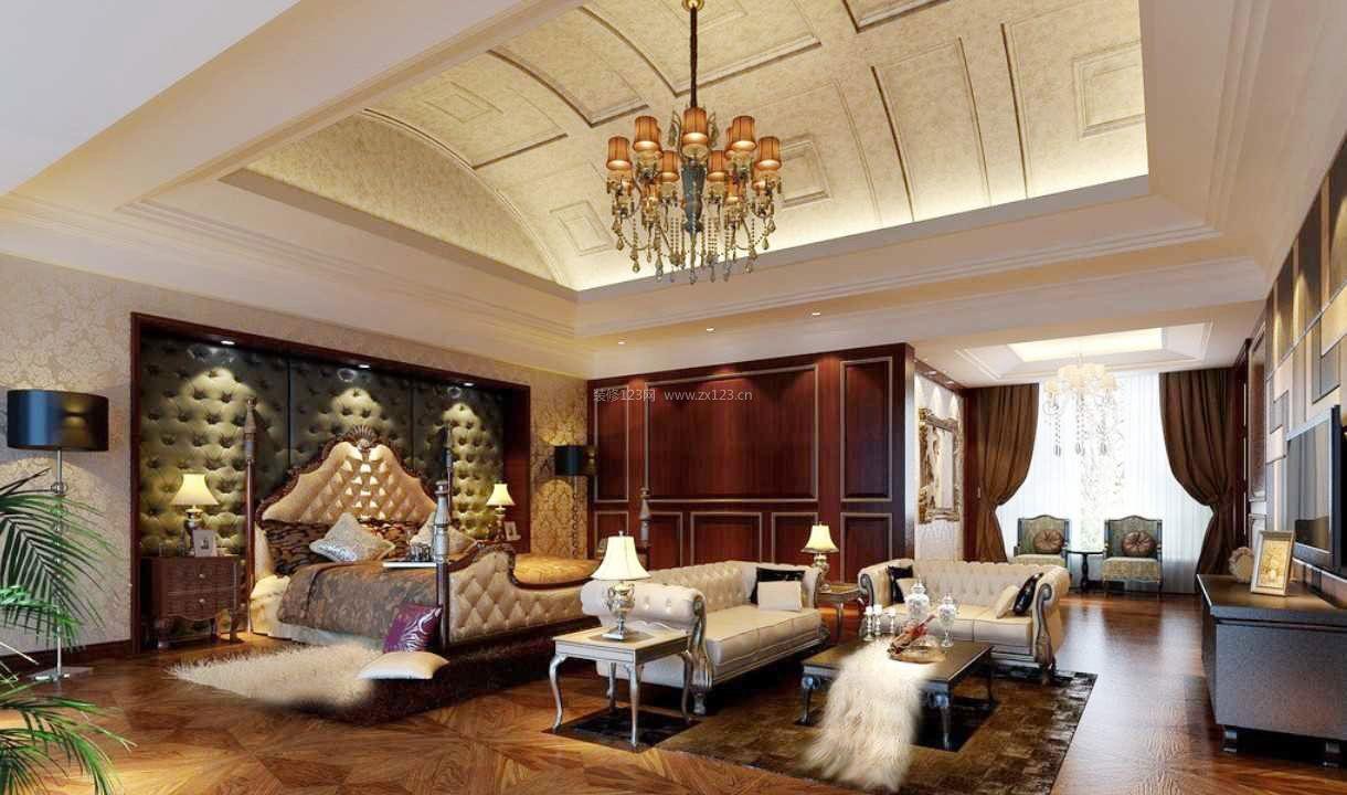 卧室豪华欧式装修效果图大全图片