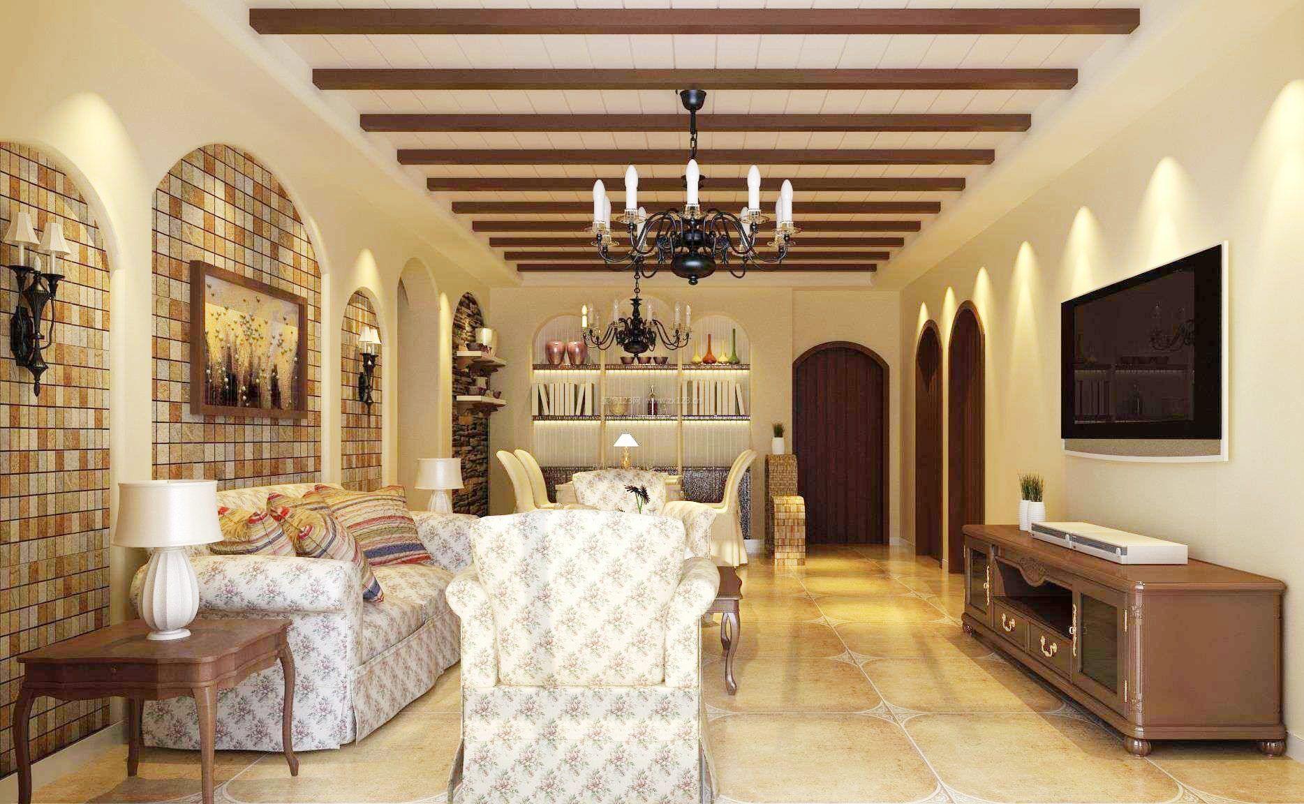 家装效果图 地中海 地中海风格实木家具电视柜图片大全 提供者:   ←