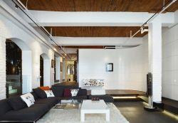 現代簡約黑白風格復式樓閣樓裝修圖片