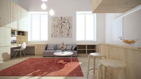 復式樓閣樓裝修 客廳地毯圖片