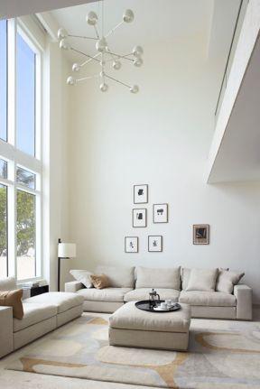 2017复式楼客厅沙发摆放设计图