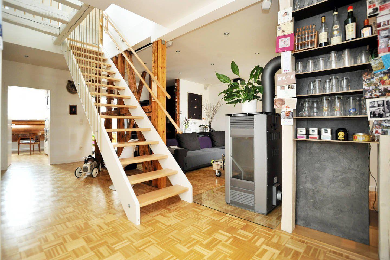 小复式阁楼楼楼梯设计装修效果图图片