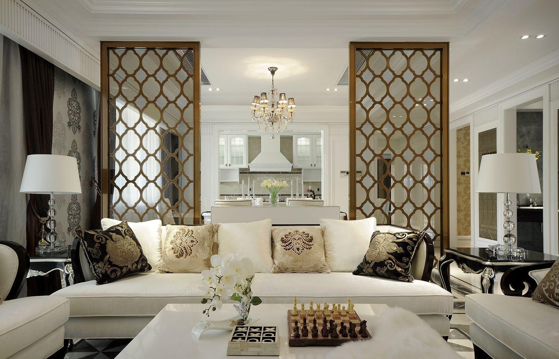 欧式家装客厅组合沙发装修效果图片