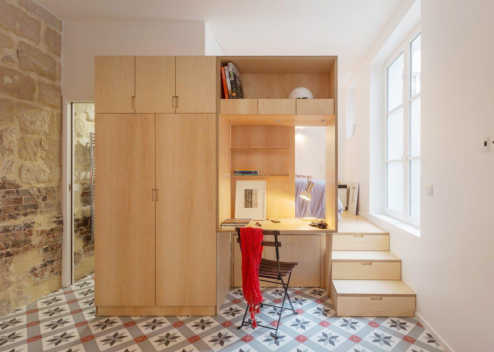 国外经典小户型50平米单身公寓设计_装修123效果图