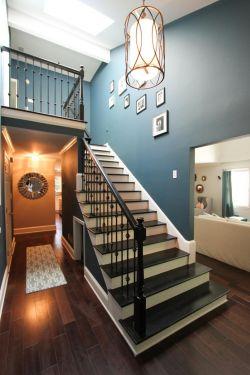 新古典风格楼中楼楼梯设计效果图_装修123效果图