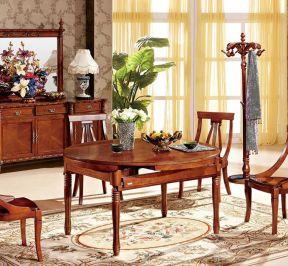 歐式實木餐桌 折疊餐桌圖片