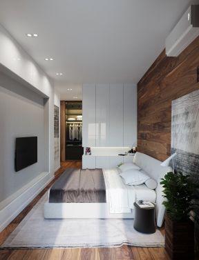 50平米单身公寓 现代主卧室装修效果图片
