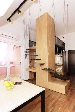 阁楼复式楼梯设计图 小户型家装设计装修效果图片