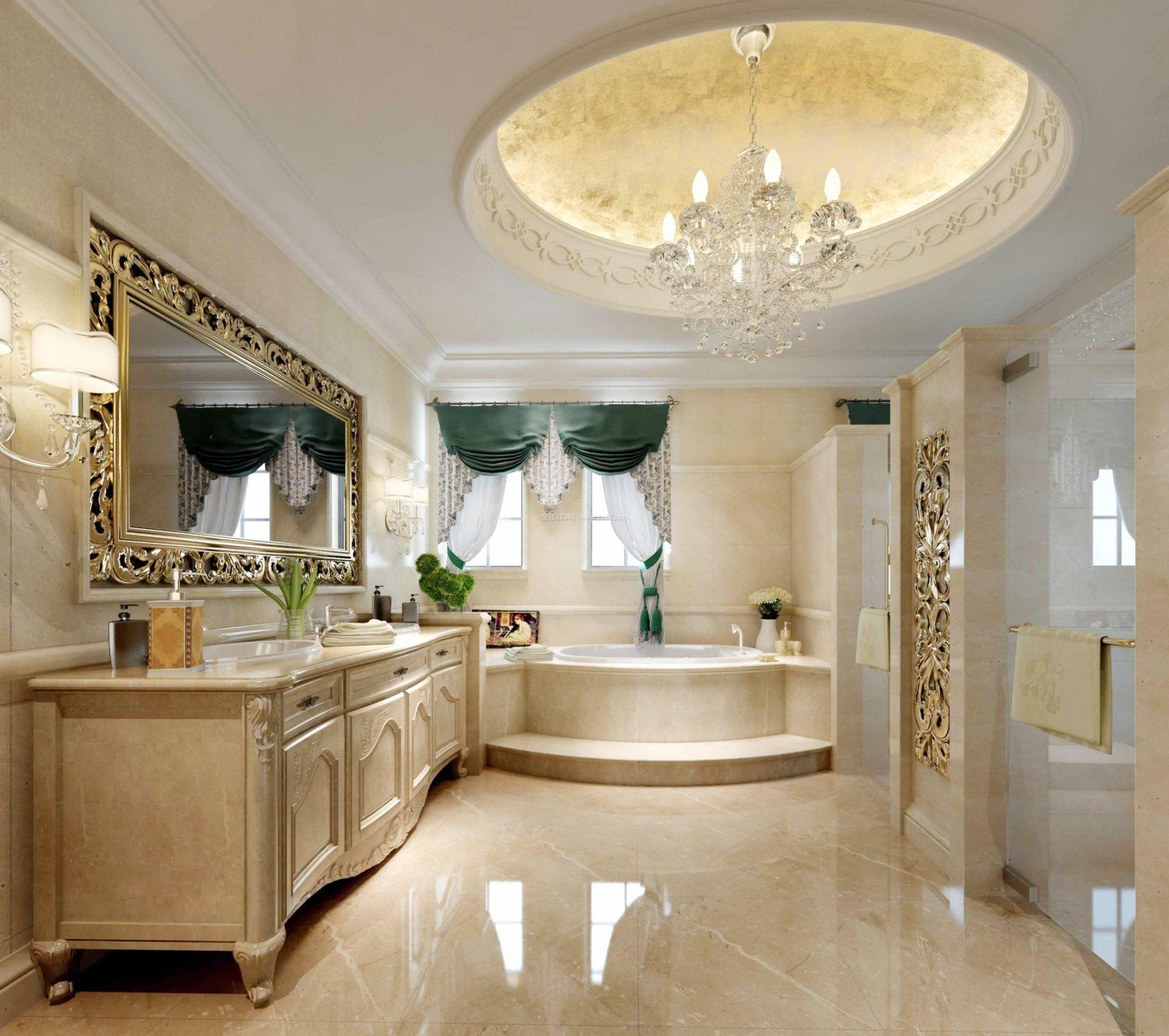 小户型简欧风格复式楼卫生间装修效果图图片