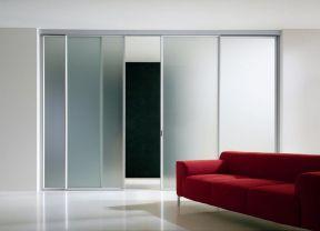 客廳隱形門 玻璃推拉門圖片