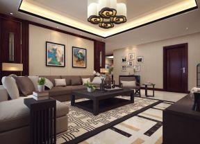 中式客厅装饰画 150平米装修效果图片