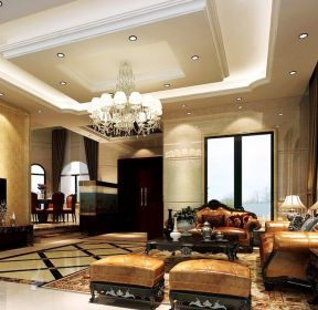 別墅客廳歐式風格吊頂-每日推薦