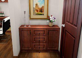 進門客廳玄關鞋柜隔斷 實木鞋柜