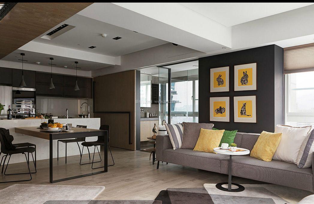 两室一厅简约房屋室内装修效果图