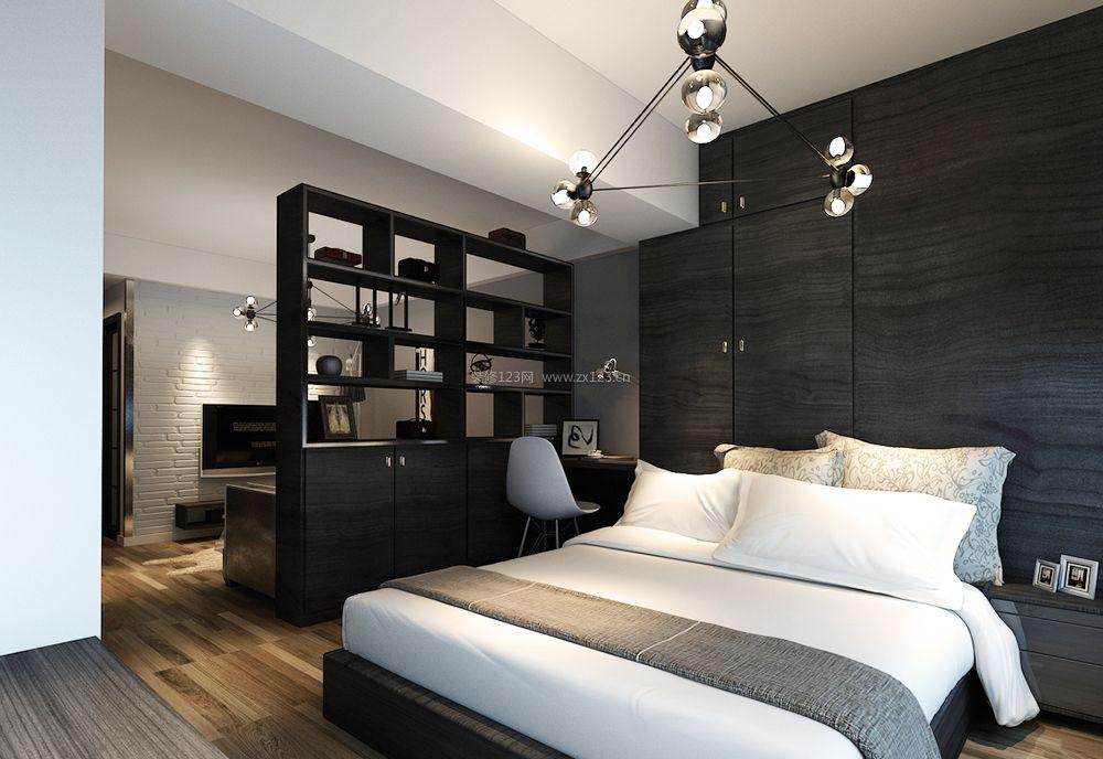 一室一厅50平方小户型卧室客厅隔断装修设计案例