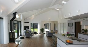 客廳和廚房隔斷效果圖大全 直長方形客廳裝修圖