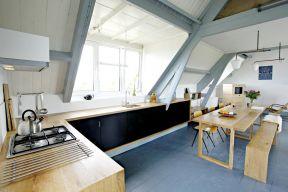 客廳和廚房隔斷效果圖大全 長餐桌