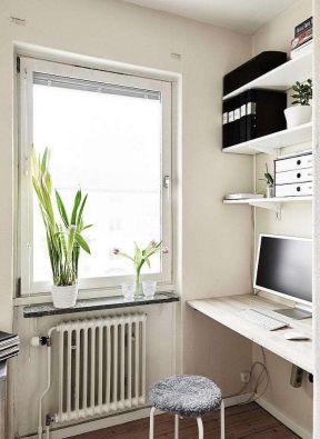 北欧风格装修设计家居带有飘窗小书房效果图