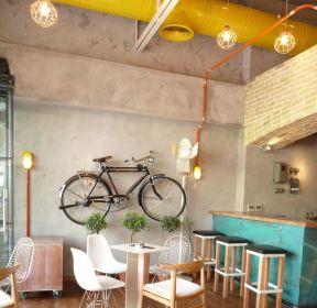 田園風格咖啡廳店面吊頂效果圖-每日推薦