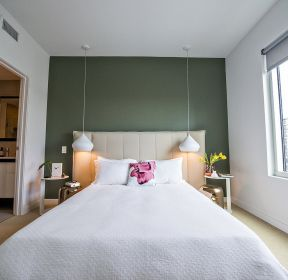 現代簡約風格小面積臥室壁紙-每日推薦