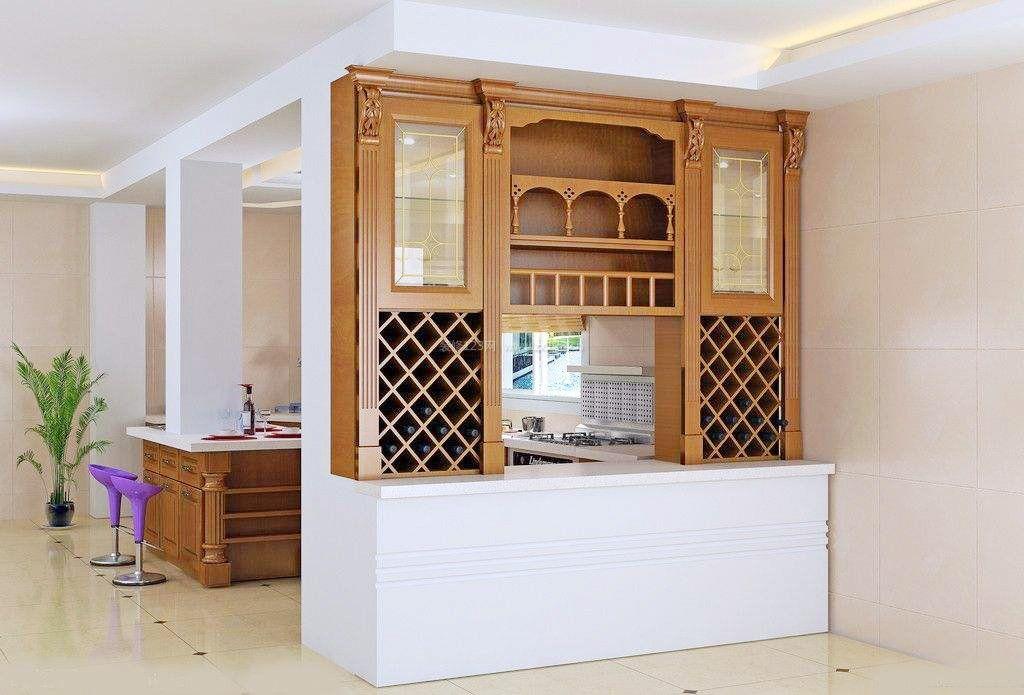 厨房和饭厅酒柜隔断造型效果图