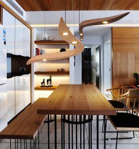 現代簡約風格吊燈 實木家具圖片