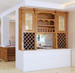1259 客厅与厨房隔断造型图片 1685 现代厨房隔断酒柜图片 1980 北欧