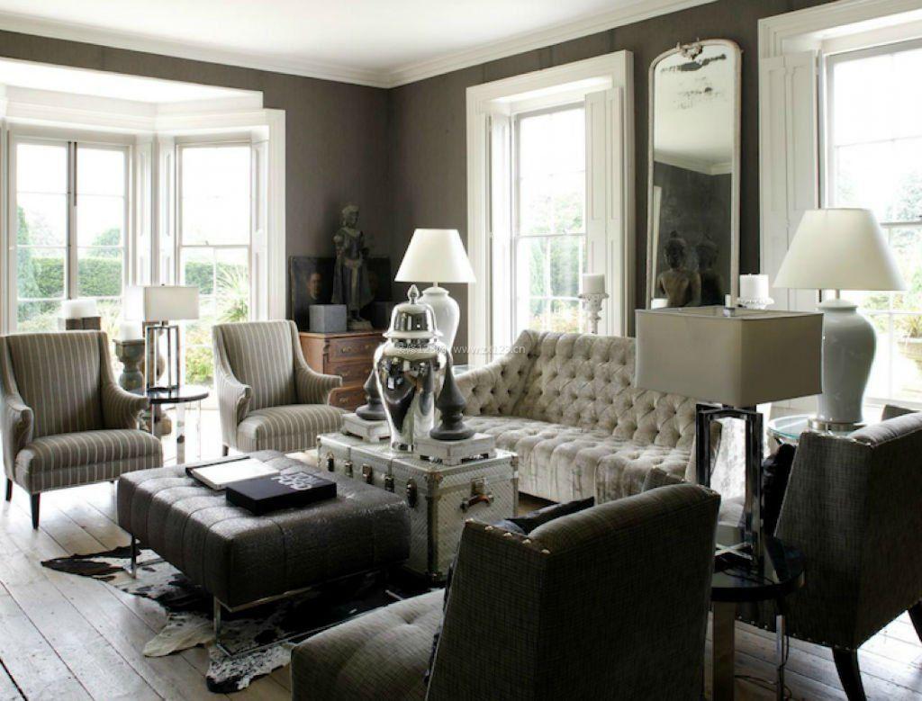 现代简约欧式家具风格客厅效果图欣赏