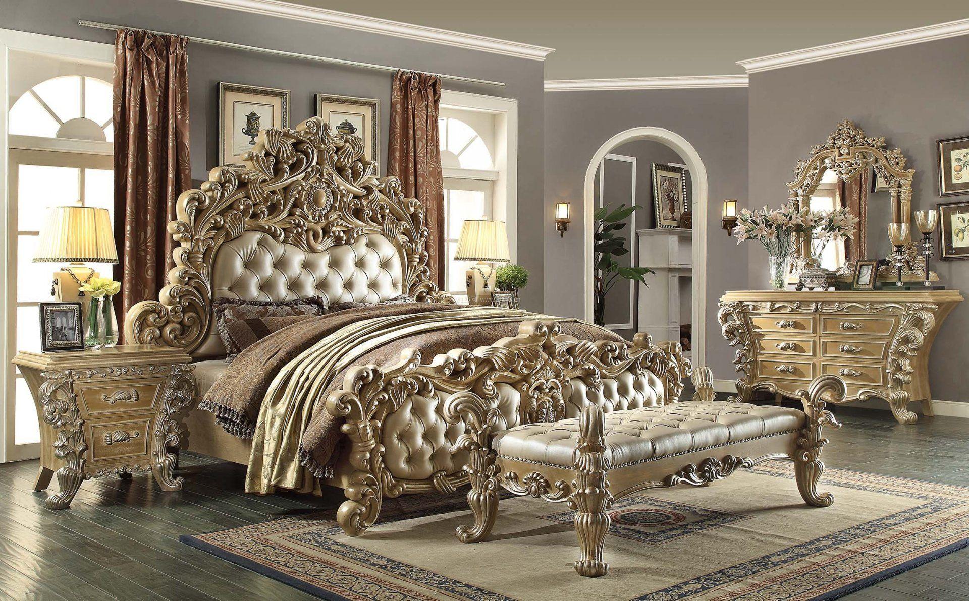 卧室欧式家具装修摆放图片2017