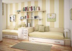 簡約風格兒童房臥室榻榻米床設計