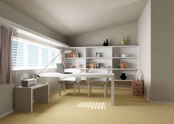 现代阁楼书房装修设计效果图图片