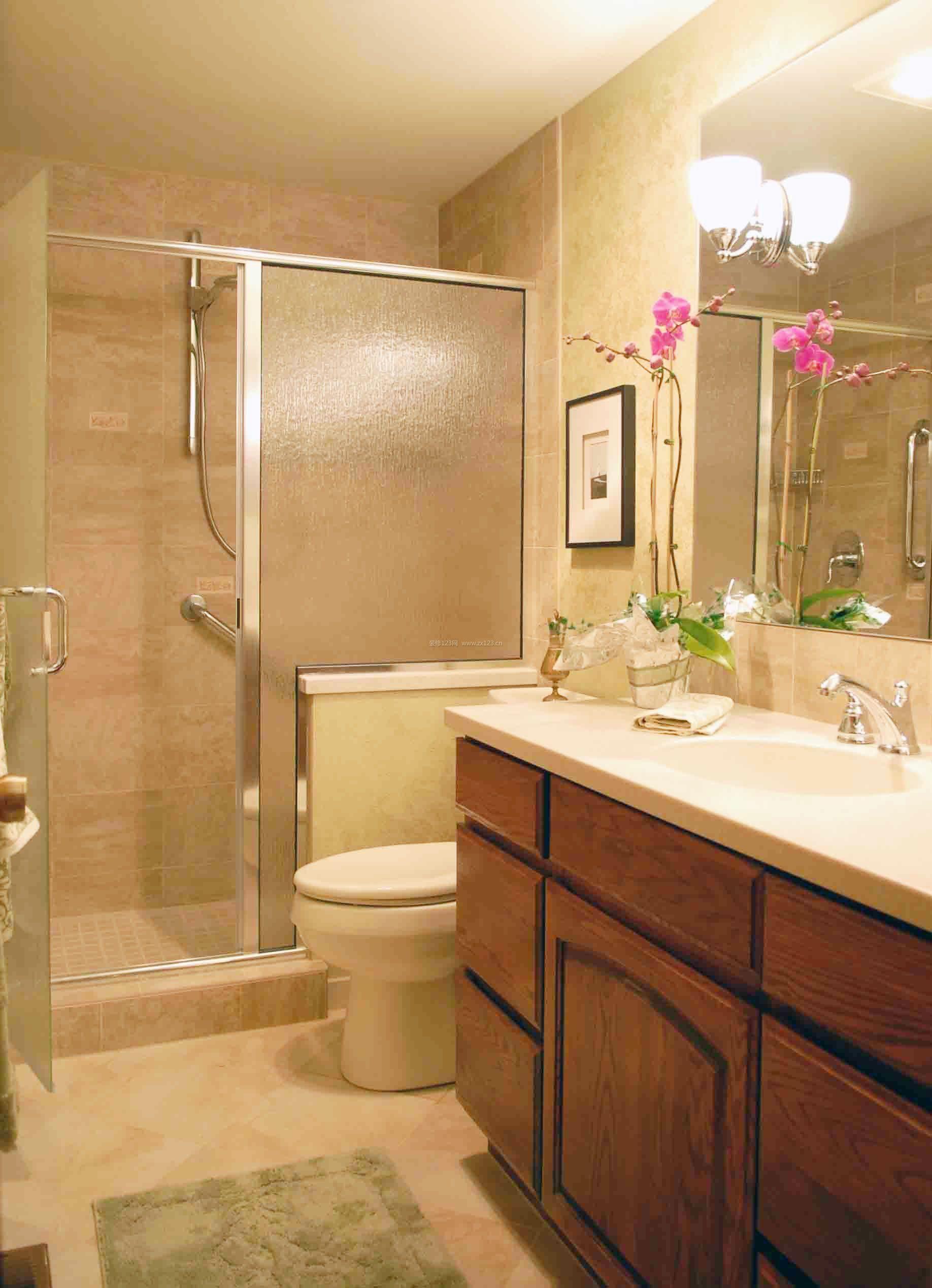 家装卫生间瓷砖搭配效果图