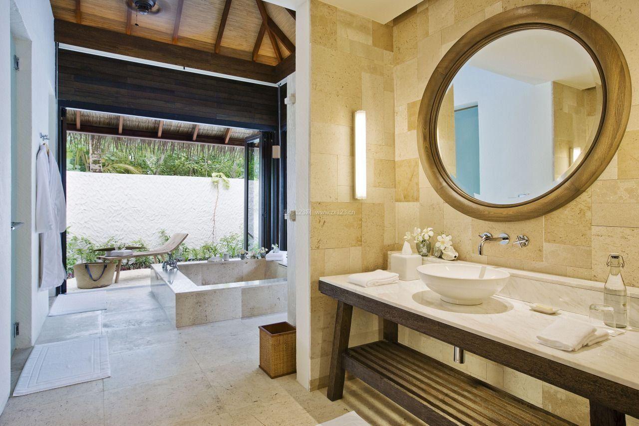 宾馆卫生间设计图片_装修123效果图