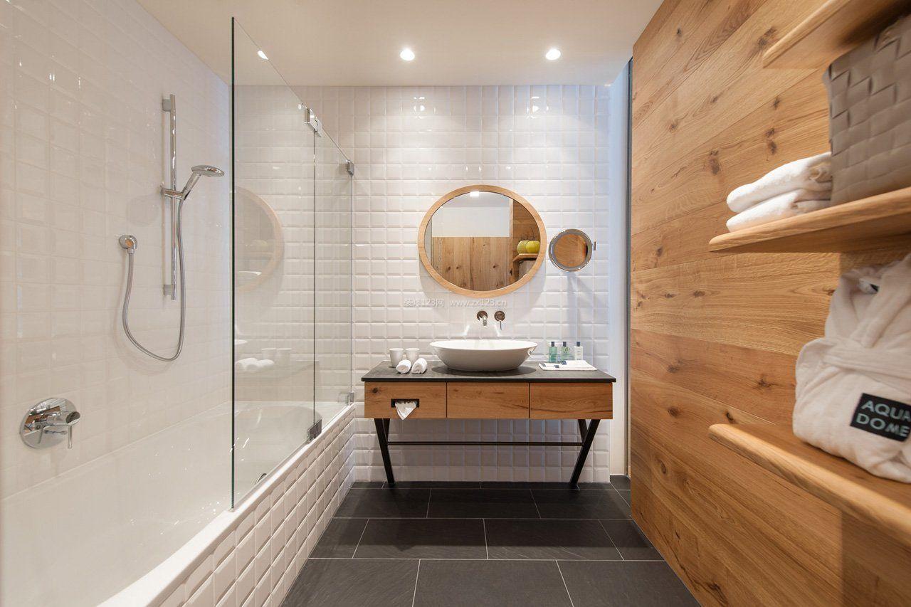 宾馆卫生间装修设计效果图片2017