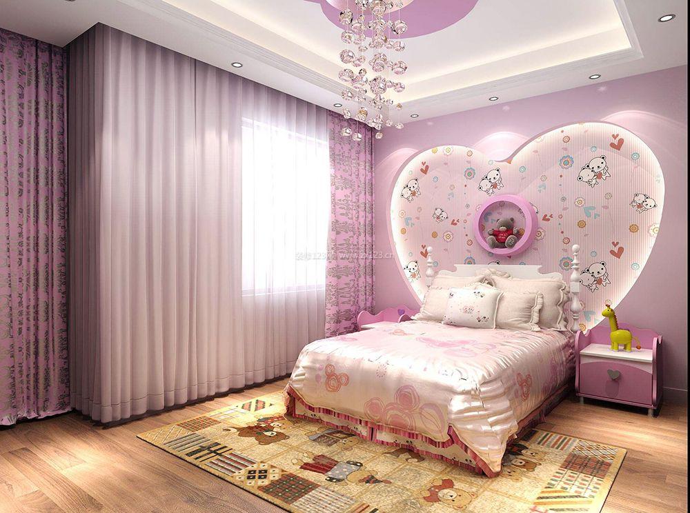 女生卧室床头背景墙创意家居设计装修效果图片
