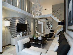 150平米复式楼装修效果图 客厅电视墙装修图