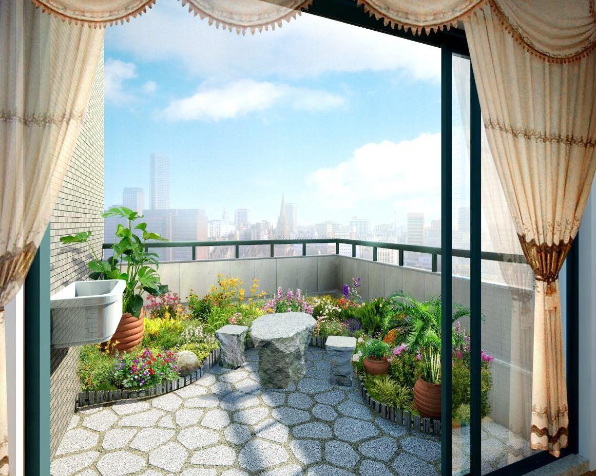 有阳台的客厅装修图片-客厅与阳台无门实景图-客厅阳台一体图片大全